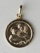 9kt Gold Pendants: St Anne 13mm (ME921)