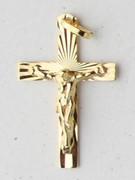 9kt Gold Pendants:  CRUCIFIX 33mm (CR9008)