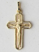 9kt Gold Pendant: Crucifix 28mm (CR9102)
