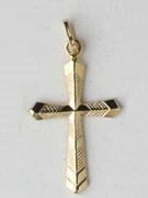 9kt Gold Pendant: Cross 29mm (CR9027)