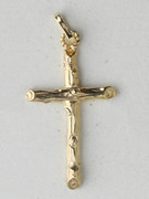 9kt Gold Pendants,  CRUCIFIX 34mm