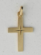 9kt Gold Pendant: Cross 24mm (CR9011)