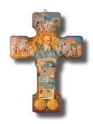 St Benedict Crucifix: Multi-Image 24.5cm (CR003SB)