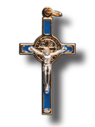 St Benedict Crucifix: Assorted Colours 4cm (CR4SB)
