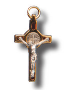 St Benedict Crucifix: Assorted Colours 3.5cm (CR3SB)