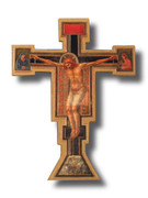 Wall Crucifix, Wood GIOTTO CROSS (CR511)