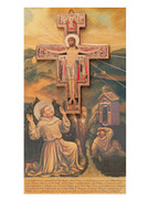Wall Crucifix: San Damiano with card (CR1238)