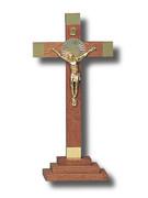 Standing Crucifix, Wood Gold 23cm (CRMP20G)