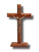 Standing Crucifix, Olive Wood 16cm (CROLLB16)