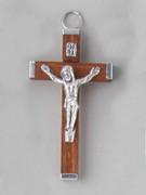 Crucifix Pendant: Wood 6cm Brown (CRAL60N)