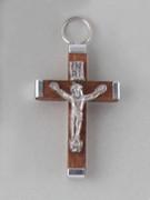 Crucifix Pendant Wood 3.5cm Brown (CRAL35N)