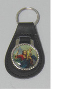 Keyring: Leather St Christopher