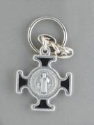 Keyring: St Benedict Cross Black (KR2093K)