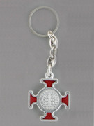 Keyring: St Benedict Cross Red (KR2093R)