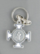 Keyring: St Benedict Cross White (KR2093W)