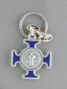 Keyring: St Benedict Cross Blue (KR2093B)