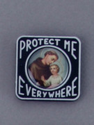 Car Plaque: Protect Me Everywhere: St Anthony