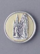 Magnet: Round All Metal: OL Lourdes