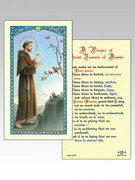 Holy Cards: 800 SERIES - St Francis/Peace prayer