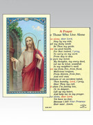 Holy Cards: 800 SERIES - Jesus Knocking/Prayer Living alone
