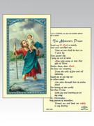 Holy Cards: 800 SERIES - ST Christopher/Motorists Prayer