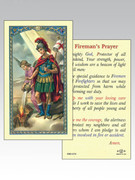 Holy Cards: 800 SERIES - Fireman's Prayer