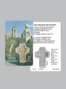 Window Charm Prayer Card: Cross In Pocket(LC10035)