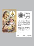 Window Charm Prayer Card: St Joseph