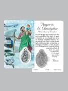 Window Charm Prayer Card, St Christopher