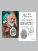 Window Charm Prayer Card Padre Pio