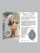 Window Charm Prayer Card: St Ann
