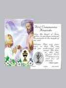 Window Charm Prayer Card: First Communion Girl