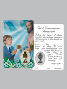 Window Charm Prayer Card: First Communion Boy