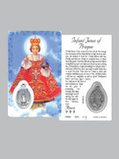 Window Charm Prayer Card: Infant Prague