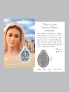 Window Charm Prayer Card: OL Medjugorje