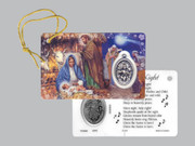 Window Charm Prayer Card: Silent Night, Holy Night(LC141)