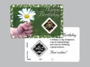 Window Charm Prayer Card: Happy Birthday