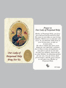 Laminated Prayer Card: Our Lady Perpetual Help (pkt12)