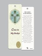 Laminated Bookmark: Cross In Pocket