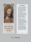 Bookmark: Head Jesus / Footprints