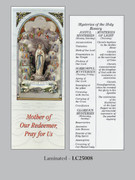 Bookmark: Mysteries Holy Rosary