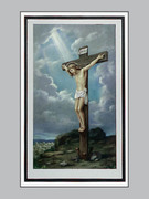 Memorial Cards Pax Series #4 Crucified Jesus with Rays