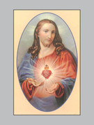 Memorial Cards Sacred Heart Jesus