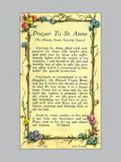 Laminated Holy Verse Cards: Prayer St Anne