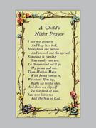 Laminated Holy Verse Cards, Child's Night Prayer