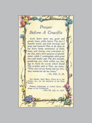 Laminated Holy Verse Cards Prayer Before Crucifix