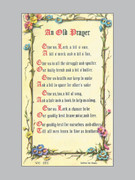 Laminated Holy Verse Cards: An Old Prayer