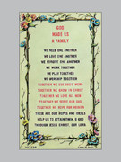 Laminated Holy Verse Cards:  Family