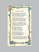 Laminated Holy Verse Cards: Right to Life