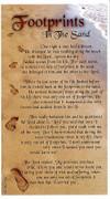 Laminated Holy Card Footprints